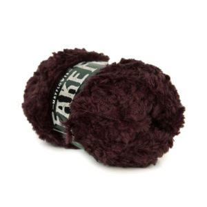 Mayflowers Fake Fur Aubergine