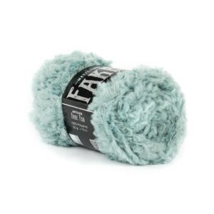 Mayflowers Fake Fur Lys Aquamarine